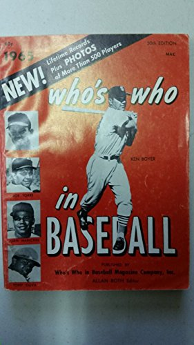 1965 Who's Who in Baseball Ken Boyer (Back Protect: Dean Chance photo) Very Good [Sl moisture; wear on both covers; contents fine]