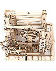 ROKR 3D Wooden Puzzle Marble Run Model Building Kits Mechanical Puzzle Toy Gifts for Adults & Teens