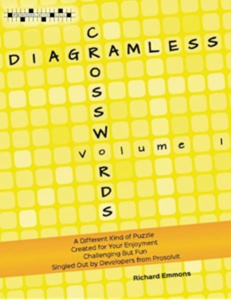 Diagramless Crosswords Volume 1 Emmons Richard 9780986331206 Amazon Com Books