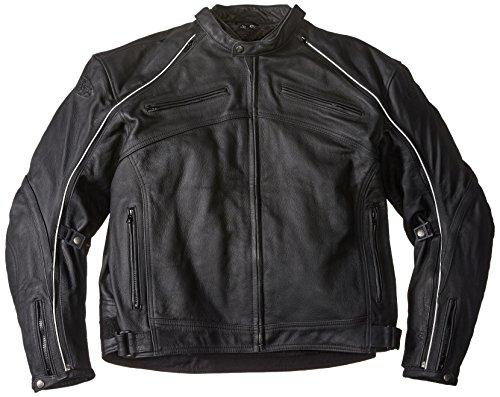 Mesh Hybrid (Joe Rocket Superego Men's Hybrid Leather/Mesh Motorcycle Jacket (Black, 4X-Large))