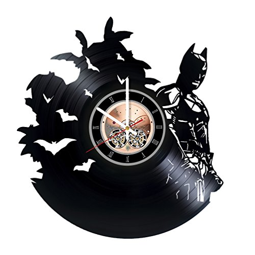 Green Arrow Injustice Costume (Batman DC Comics Vinyl Record Wall Clock - Home or Bedroom wall decor - Gift ideas for friends, teens - Unique Art Design)