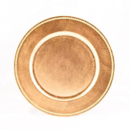 Delightful Koyal Wholesale Charger Plates, Gold (Pack Of 4)