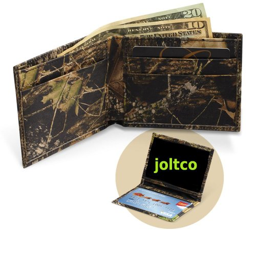 (200421 Leather Mossy Oak Camo Bi-fold Wallet Premium)