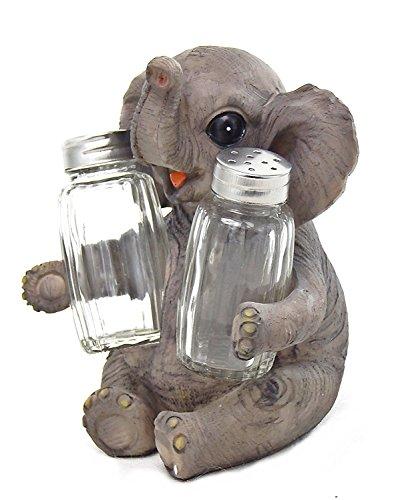 (Baby Elephant Sitting Salt and Pepper Shaker, 6.5