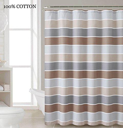 Brown Cotton Shower Curtain Bath: Amazon.com