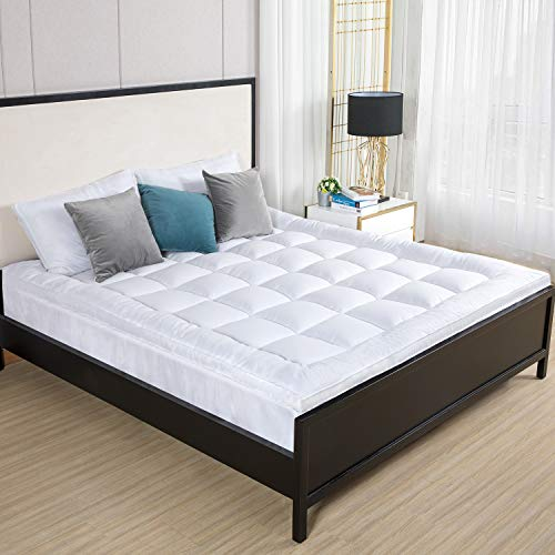 Duck & Goose Co Premium Plush Mattress Topper - Down Alternative Gel-Filled Fiber Quilted Bed Topper 2