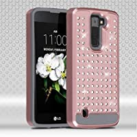 Asmyna Cell Phone Case for LG K7 - Rose Gold/Iron Gray