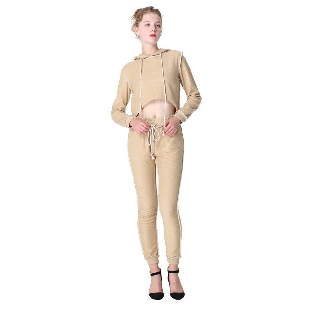 WanYang Donna 2 Piece Vestiti da Donne Eleganti Tuta Sportiva con Cappuccio Abbigliamento Sportivo
