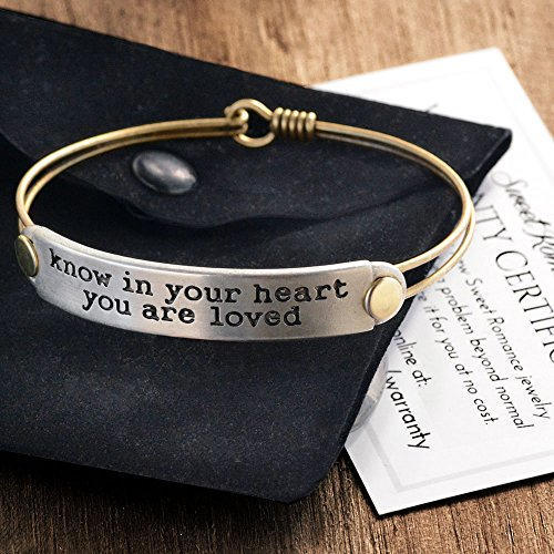 Sweet Romance Know In Your Heart You Are Loved Inspirational Bracelet