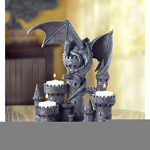Gifts & Decor Dragon Candleholder Mediev - Dancing Squares Natural Shopping Results