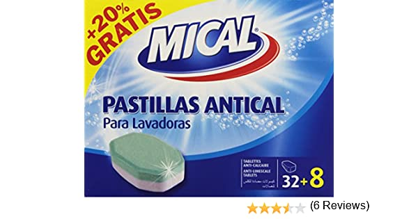 Mical - Pastillas antical para lavadoras - 20% Gratis - 32 + 8 ...