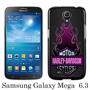 Samsung Galaxy Mega 6.3 i9200 i9205 Harley Davidson Motor Company Black Screen Phone Case Personalized and Grace Design