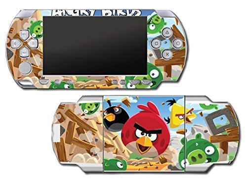 Angry Birds Red Chuck Bomb Pig Video Game Vinyl Decal Skin Sticker Cover for Sony PSP Playstation Portable Original Fat 1000 Series System