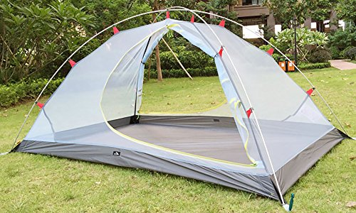 MaxMiles 1 2 Person Premium Backpacking Tent Ultra-Lightweight 20D Nylon Taffeta Rip-Stop Tent 3.4lb/1.5kg - Strong Durable Waterproof Mountain Hiking Tent- Compact One or Two Person Ultra-Light Tent by MaxMiles (Image #3)
