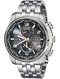 Men's AT9010-52E World Time A-T Stainless Steel Eco-Drive Watch