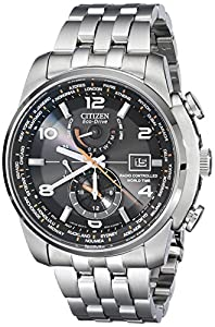 Citizen Men's AT9010-52E World Time A-T Stainless Steel Eco-Drive Watch