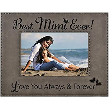 Amazon.com: GIFT MIMI PICTURE FRAME ~ Engraved Leatherette Frame ...