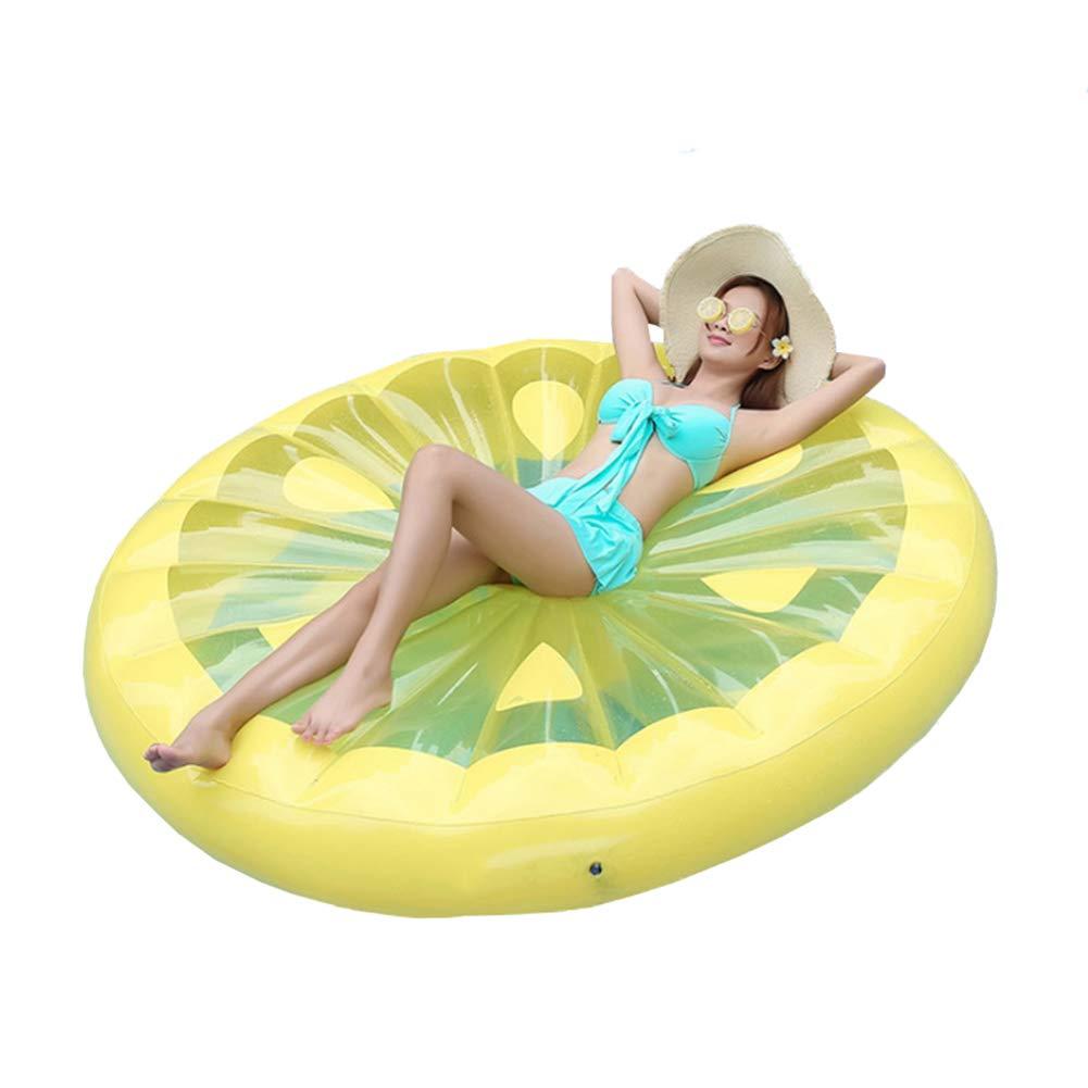 Piscina hinchable Flotador Redondo Limón Cama flotante de ...
