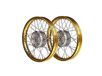 Mza Set: 2 x rueda 1,5 x 16 Llantas de aleación, Oro anodizado ...