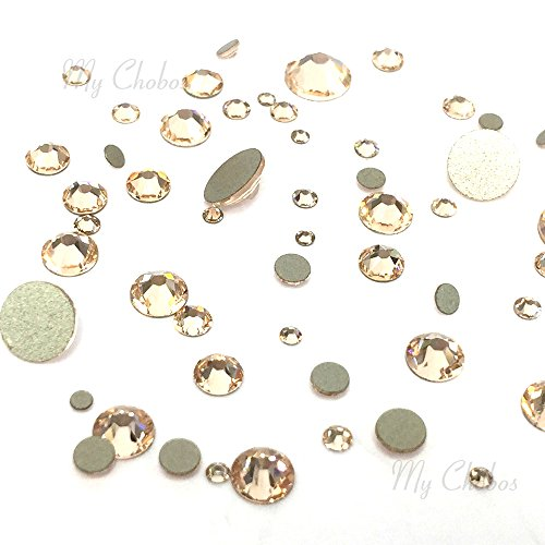 (SILK (391) 144 pcs Swarovski 2058/2088 Crystal Flatbacks rhinestones nail art mixed with Sizes ss5, ss7, ss9, ss12, ss16, ss20, ss30)