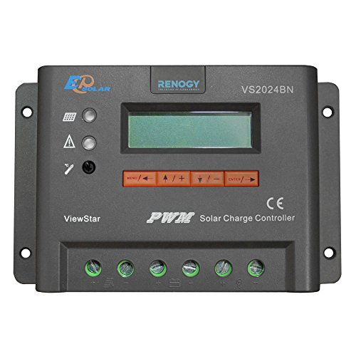RENOGY® ViewStar 20 Amp Negative grounded PWM Charge Controller with LCD Display