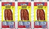 El Latino Dry Spanish sausage, 3 packs of 2 units, total 6 sausages,10.5oz