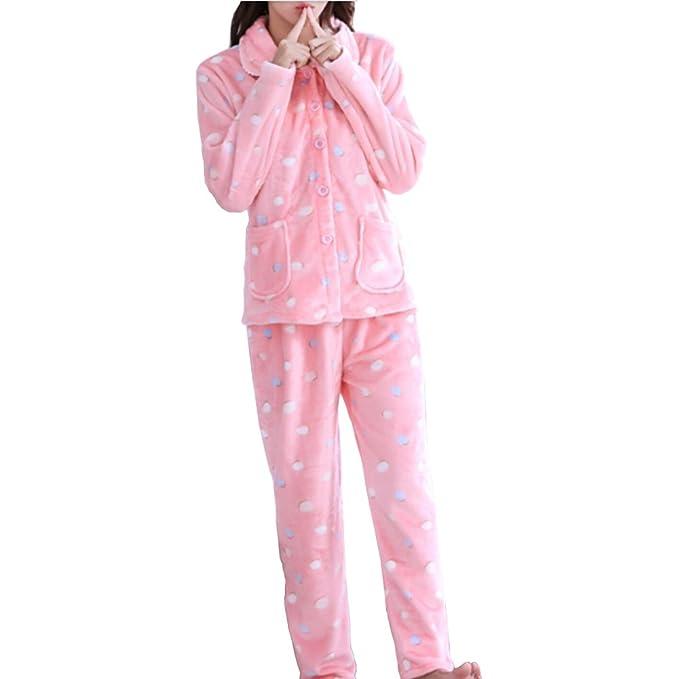 Traje de pijama de franela de mujer más grueso # 11