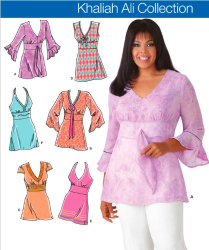 Simplicity Pattern 4277 Khaliah Ali Collection Misses/ Women's Tunics Size AA (10-18) ()