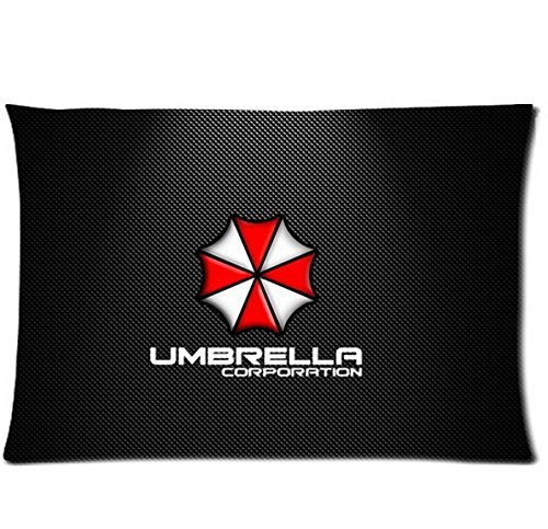 Umbrella Corporation Resident Evil Custom Zippered Pillow Cases 20x30 (Twin Sides)