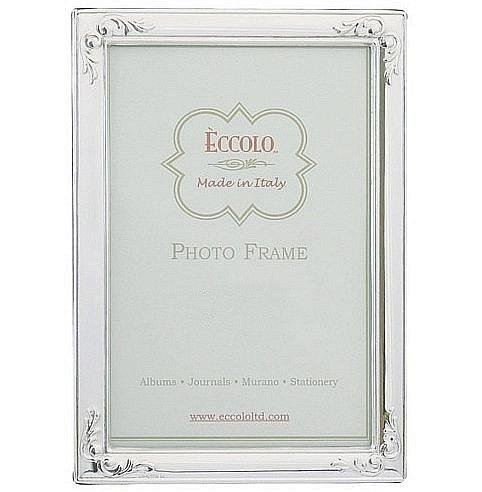 Eccolo Made In Italy Sterling Silver Frame, Flowered Corners, Holds a 5 x 7-Inch Photo by Eccolo (Image #1)