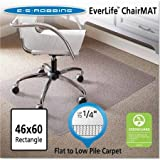 ES Robbins 46'' x 60'' Rectangle Chair Mat, Task Series AnchorBar for Carpet up to 1/4''
