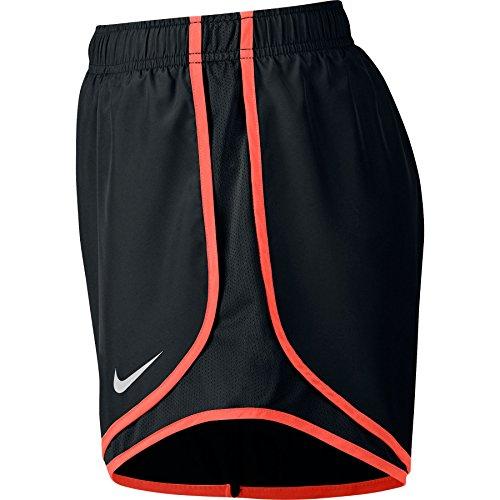 Damen Nike Dry Tempo Running Short Schwarz / Max Orange / Wolf Grau