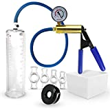 Vacuum Pump LeLuv ULTIMA Including Gauge Bundle with Silicone Sleeve & 4 Sizes of Constriction Rings 9 Inch x 2.25 Inch