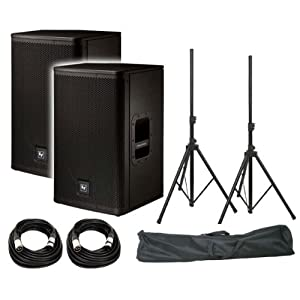 "Electro-Voice ELX112P 12"" Live X Two-Way Powered Loudspeaker (Pair) / FREE ProX T-SS20P Standard Speaker Stands w/ Bag / FREE (2) XLR to XLR Cables 20ft ea"