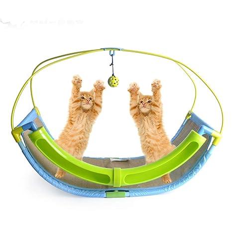 OFVV Rascador De Hamacas para Gatos Juguete para Gatos Cat Rocking Roller Cradle Bed Cama para