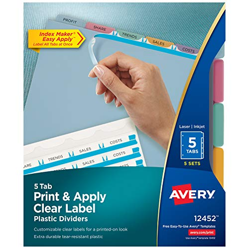 (Avery 12452 Index Maker Translucent Dividers with Clear Labels )