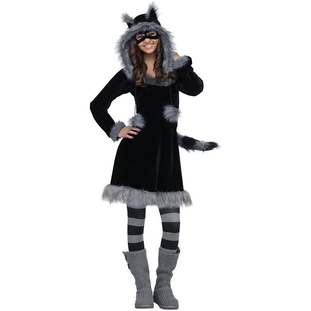 Amazon.com: Fun World Sweet Raccoon Teen Costume, Black,Junior (0/9 ...