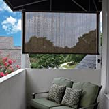 Easy2Clean Cool and Comfortable Outdoor Espresso Sun Shade, 120''W x 72''L