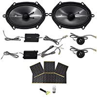 KICKER 43CSS684 6x8 450 Watt Car Audio Component Speakers CSS68+Rockmat