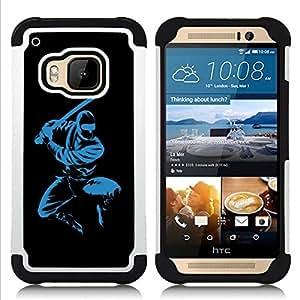 For HTC ONE M9 - Blue Ninja Dual Layer caso de Shell HUELGA Impacto pata de cabra con im??genes gr??ficas Steam - Funny Shop -