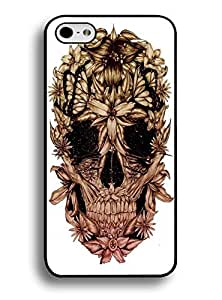Case for Iphone 6 4.7 Inch ,Brown Floral Skull