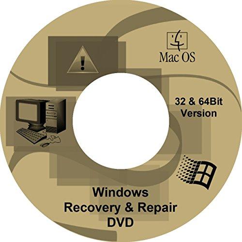 Windows 7 - 10 Recovery & Repair DVD CD - FÜR Win 10 Win 8 Win 7 - 32 & 64 Bit Version - Windows Reparatur DVD - NOTFALL DVD