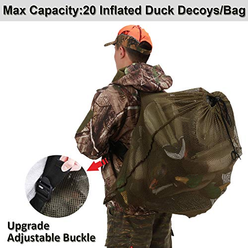 GearOZ Decoy Mesh Bag for Carrying Turkey,Drake Duck, Goose,Waterfowl,Wildfowl,Marllard Hen Decoys