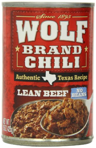 Wolf Brand Chili Lean Beef No Beans, 15 Ounce (Pack of 12)