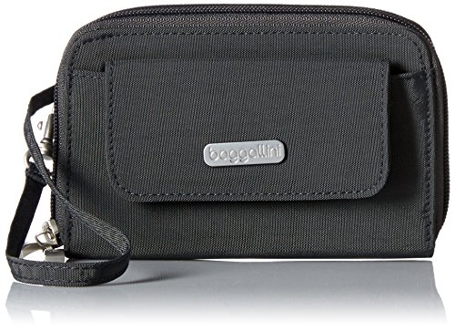 Baggallini Wallet Wristlet, Charcoal by Baggallini
