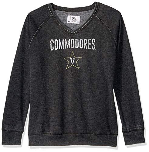 (J America NCAA Vanderbilt Commodores Women's Achieve Fleece Crew Sweater, Large,)