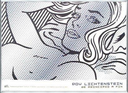 ポスター ロイ リキテンスタイン Seductive Girl 限定500枚 額装品 アルミ製ベーシックフレーム(シルバー) B0031P538U シルバー シルバー