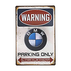 Amazoncom Retro BMW Parking Only Vintage Retro Metal Tin Sign - Bmw parking only signs
