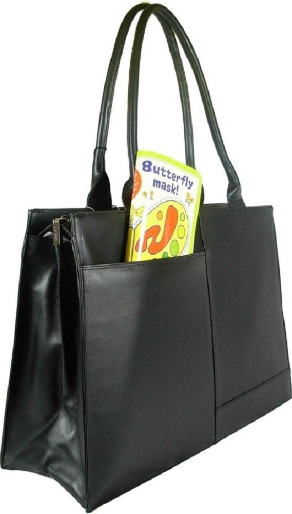 Visconti 19147 Damen Aktentasche Handtasche, Leder, groß, Schwarz groß BagCentre