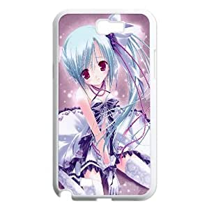 Blue Haired Lolita Girl Anime Samsung Galaxy N2 7100 Cell Phone Case White gift pp001_9430158